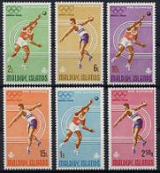 Maldive Islands, 1968, Olympic Summer Games Mexico, Sports, MNH, Michel 263-268 - Maldives (1965-...)