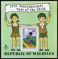 Maldive Islands, 1979, International Year Of The Child, IYC, UNICEF, United Nations, MNH, Michel Block 57 - Maldives (1965-...)
