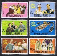Maldive Islands, 1977, Silver Jubilee Queen Elizabeth II, Royal, MNH, Michel 680-685A - Maldives (1965-...)