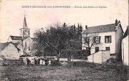 Saint Maurice Sur Vingeanne      21    Ecole Des Filles Et église      (voir Scan) - Francia