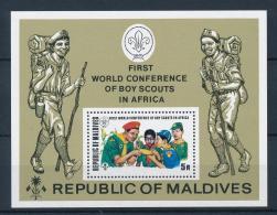 Maldive Islands, 1973, World Jamboree, Scouting, Scouts, MNH, Michel Block 18A - Maldives (1965-...)