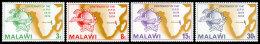 Malawi, 1974, UPU Centenary, United Nations, MNH, Michel 216-219 - Malawi (1964-...)
