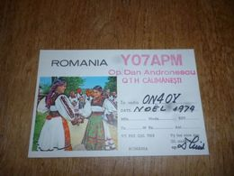 BC10-2-0-3 Carte Radio Amateur Romania Calimanesti - Radio & TSF