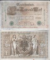 REICHSBANKNOTE 1000 MARK BERLIN APRIL 1910 SERIE G BON ETAT ALLEMAGNE REICH - [ 2] 1871-1918 : German Empire