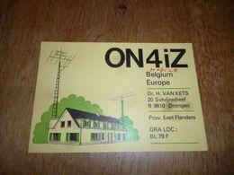 BC10-2-0-3 Carte Radio Amateur Belgique Drongen - Radio & TSF