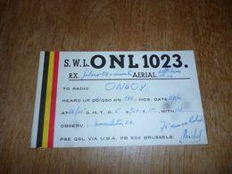 BC10-2-0-3 Carte Radio Amateur Belgique Bruxelles - Radio & TSF