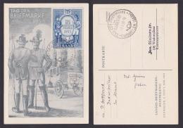 Saarland 342 Postillion Preußen Bayern FDC TdBfm 1953 Dudweiler - 1947-56 Occupazione Alleata