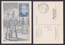 Saarland 342 Postillion Preußen Bayern FDC TdBfm 1953 Dudweiler - 1947-56 Ocupación Aliada