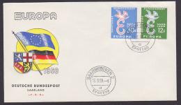 Saarland EUROPA 1958 Charlemagne FDC Mi. 439-40 - 1947-56 Allierte Besetzung