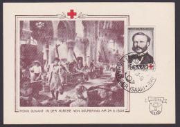 Saarland 343 Rotes Kreuz Henry Dunant Gründer Des RK Friedensnobelpreis 1901 - Lettres & Documents