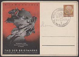 Milk Germany Deutsches Reich PP C122 70/02 GA-Kte Berlin Fahrbares Postamt Denkmal Weltpostverein 1938 - Deutschland
