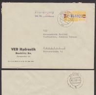 ZKD-Brief B25Z Rochlitz (Sachs) VEB Hydraulik 1960 - Oficial