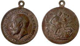 03293 GETTONE JETON TOKEN MEDAL GEORGIUS V D.G. BRITT. OMN. REX E.D. IND. IMP. - Royal/Of Nobility