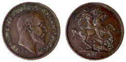 03323 GETTONE JETON TOKEN MEDAL GEORGIUS VII  D.G. BRITT. OMN. REX E.D. IND. IMP. - Royal/Of Nobility