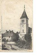 CPA / 25 DOUBS / VILLARS-Les-BLAMONT / Eglise / Presbytère En 1907 / T De Taxe - Marcophilie (Lettres)