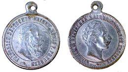 03321 GETTONE JETON TOKEN MEDAL FRIEDERICH AND WILHELM II DEUTSCHER KAISER KONIG V. PREUSSEN - Royaux/De Noblesse