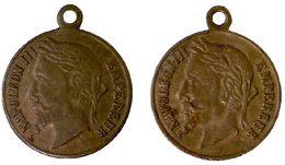 03317 GETTONE JETON TOKEN MEDAL NAPOLEON III EMPEREUR - Royal / Of Nobility