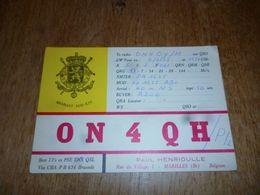 BC10-2-0-3 Carte Radio Amateur Marilles Paul Henrioulle - Radio & TSF
