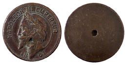 03869 GETTONE JETON TOKEN NAPOLEON III EMPEREUR 1861 - Royal / Of Nobility