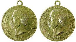 03273 GETTONE JETON TOKEN MEDAL UMBERTO I RE D'ITALIA 1882 - Royal/Of Nobility