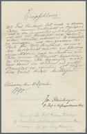Br Autographen: Rheinberger, Joseph (1839 Vaduz - 1901 München) Komponist Und Musikpädagoge: Eigenhändi - Autographs