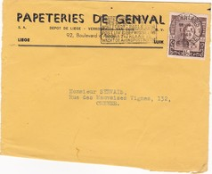 Obp 808. Papeteries De Genval. Zeer Mooie Stempel Bxl 7-x-1949 - Entiers Postaux