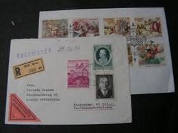 Austria 2 Briefe - Briefmarken