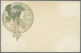 Ansichtskarten: Künstler / Artists: MUCHA ALFONS, Jugendstil, Um 1900, Nicht Beschriftet, Nicht Gela - Unclassified