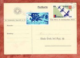 Karte, Stab Geb. Inf. Rgt. 16, 2 Verschiedene Soldatenmarken, Gefaelligkeitgestempelt (46276) - Labels