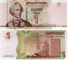 Trandnistria 1 Ruble 2007 Pick 42.b UNC - Billetes