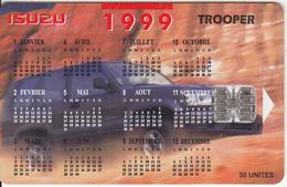 MADAGASCAR - Isuzu Trooper, Calendar 1999(P 16), Tirage 10000, Used - Madagascar
