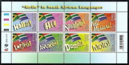 South Africa,  Scott 2018 # C64,  Issued 2005,  S/S Of 8,  MNH,  Cat $ 9.50,  Flags - South Africa (1961-...)