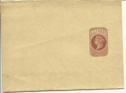 1898  Wrapper Victoria 1/2 Penny  125x300 Mm Unused - Entiers Postaux