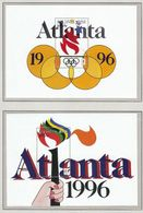 Maldives 1996 / Olympic Games Atlanta / Olympic Torch, Rings, Flame - Zomer 1996: Atlanta