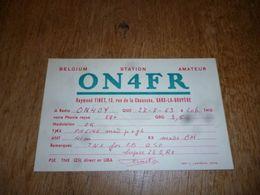 BC10-2-0-3 Carte Radio Amateur Frameries Sars La Bruyère R Finet - Radio & TSF