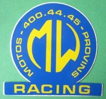 MW Racing - Autocollant Sticker Decal Adhesivo - Moto Motor Motorcycle Motard Quad - Stickers