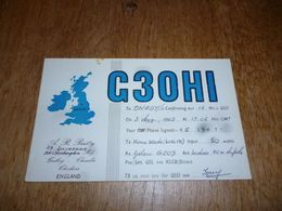 BC10-2-0-3 Carte Radio Amateur England Gatley Cheadle - Radio & TSF