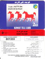 KUWAIT - Horses, Sprint Prepaid Card KD 2, Used - Kuwait