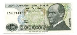 1970 Turkey 10 Lira Banknote - Turkey