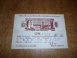 BC10-2-0-3 Carte Radio Amateur Châtelineau R Colette - Radio & TSF