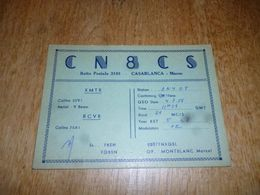 BC10-2-0-3 Carte Radio Amateur Maroc Casablanca Timbre QSL - Unclassified