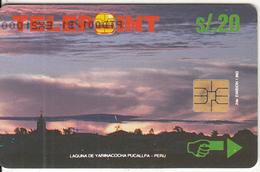"PERU - Yarinacocha Lake/Puccalpa(puzzle 2/4, Reverse ""Telecable""), Tirage 21000, Used - Peru"