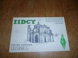 BC10-2-0-3 Carte Radio Amateur Italia Voghera Pavia - Radio & TSF