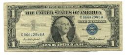 1957 USA $1 Silver Certificate Banknote - Silver Certificates (1928-1957)