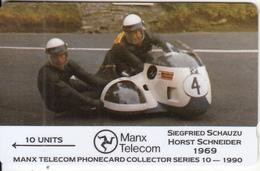 ISLE OF MAN(GPT) - TT Races 1990/Siegfried Schauzu-Horst Schneider, CN : 7IOMA, Tirage 6000, Used - Isle Of Man