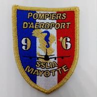 Ecusson Brodé Pompiers Aéroport MAYOTTE - Firemen