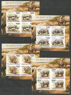 BURUNDI - MNH - Animals - Rhinoceros - Imperf. - Rhinozerosse