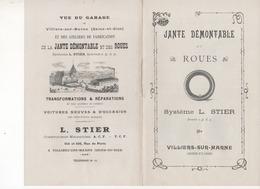 Livret De 8 Pages Sur Jante Démontable Et Roues Système L STIER VILLIERS SUR MARNE 94  Atelier De Fabrication - Advertising