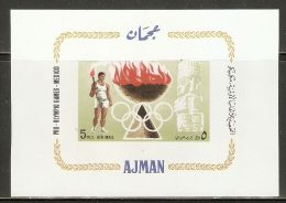 Ajman 1967 Mi# Block 16 ** MNH - Summer Olympics 1968, Mexico - Sommer 1968: Mexico