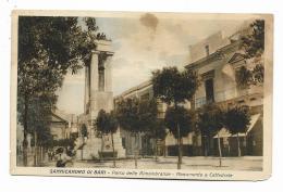 SANNICANDRO DI BARI - PARCO DELLE RIMEMBRANZE - MONUMENTO E CATTEDRALE - NV  FP - Bari